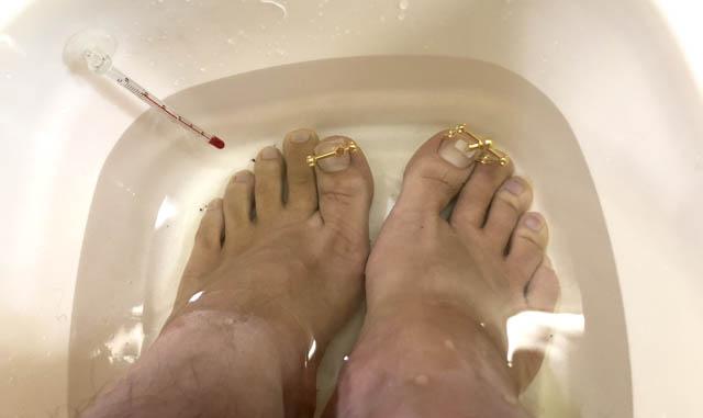 巻き爪ロボ 温浴